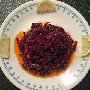 Spicy Sliced Chicken With Pickled Beets Recipe